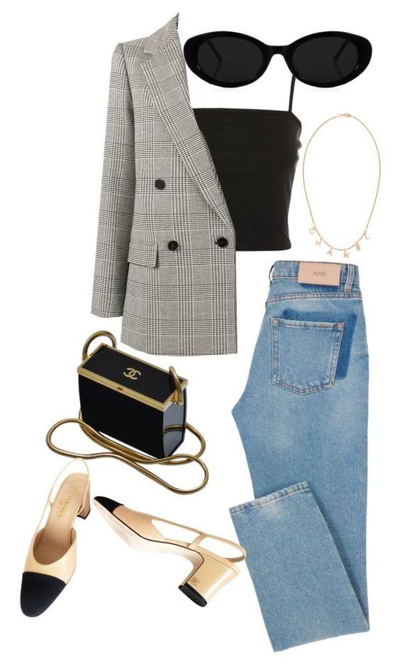 Ide look #2 Jeans + giacca principe di Galles