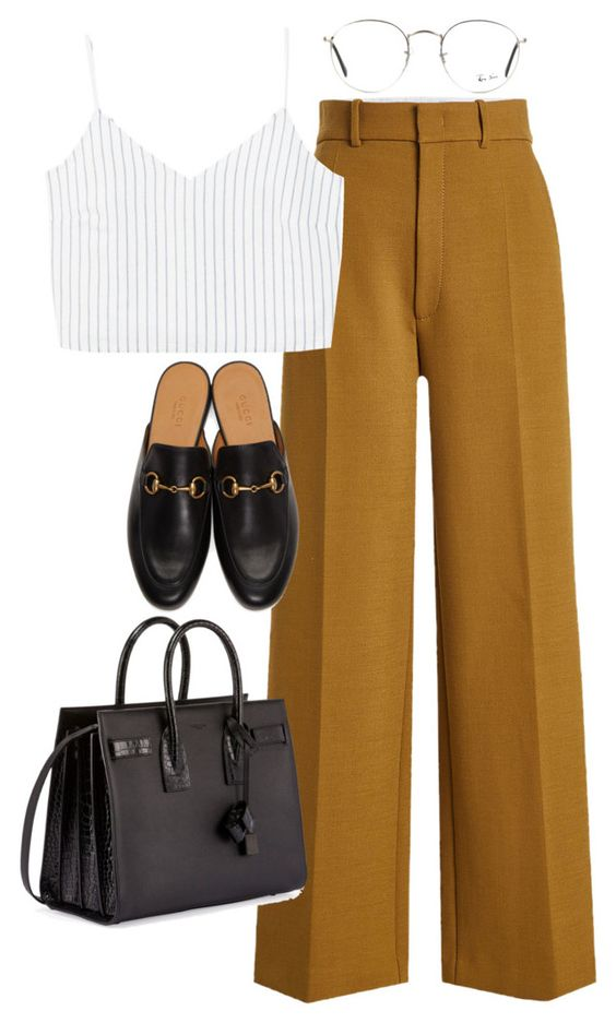 Idea look #5 Pantaloni palazzo + croptop