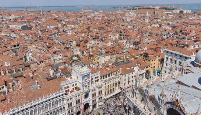 Vista dal campanile di S. Marco