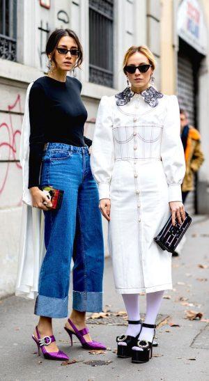 jeans vita alta tendenza autunno inverno 2018