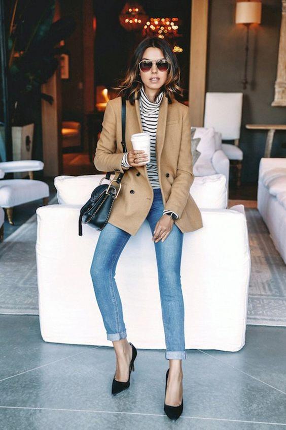 Come vestirsi in autunno - maglia a righe