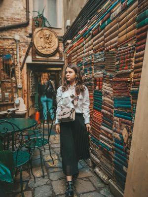 Libreria Acqua alta - posti instagrammabili Venezia