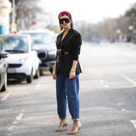 slouchy jeans - outfit elegante