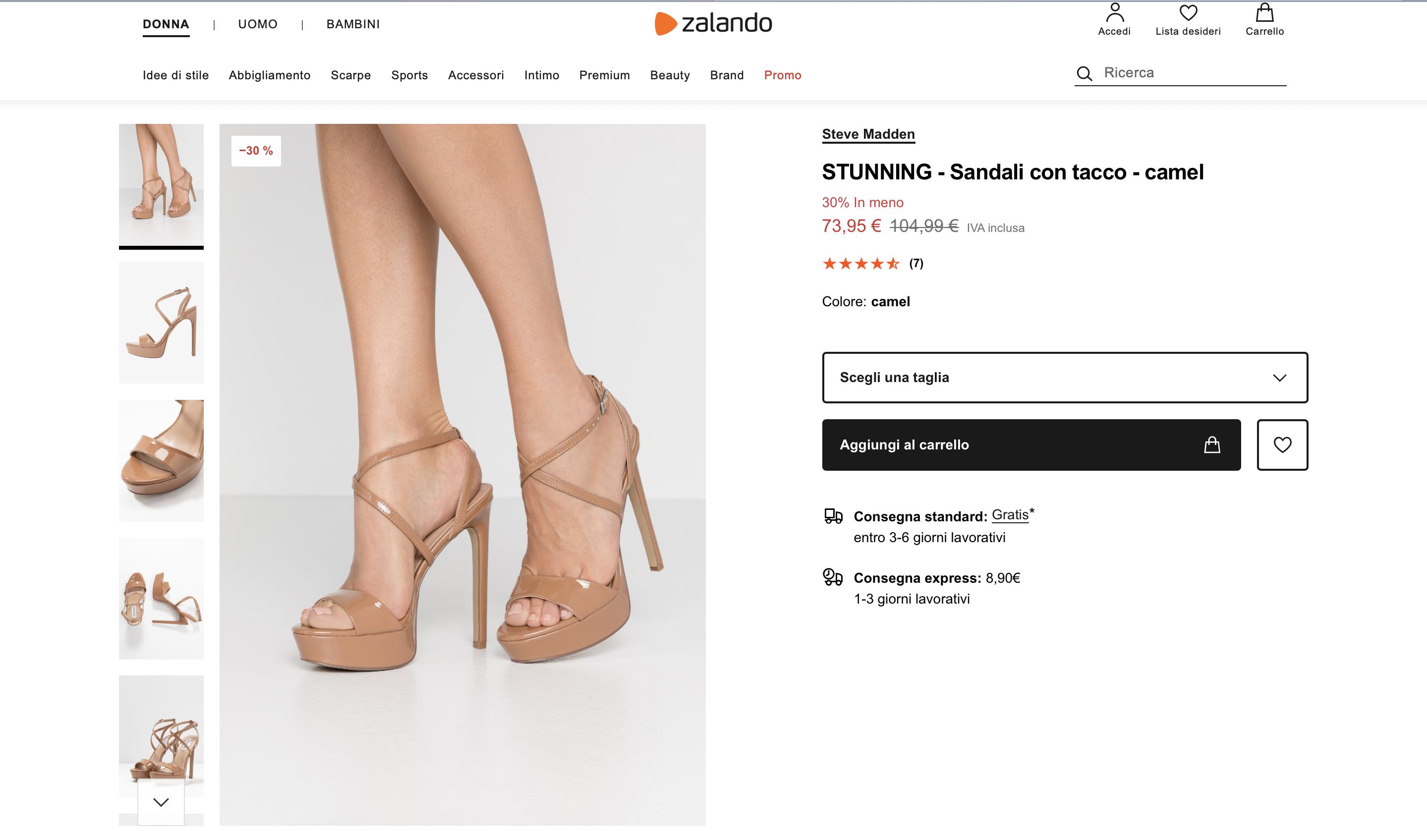 zalando sandali
