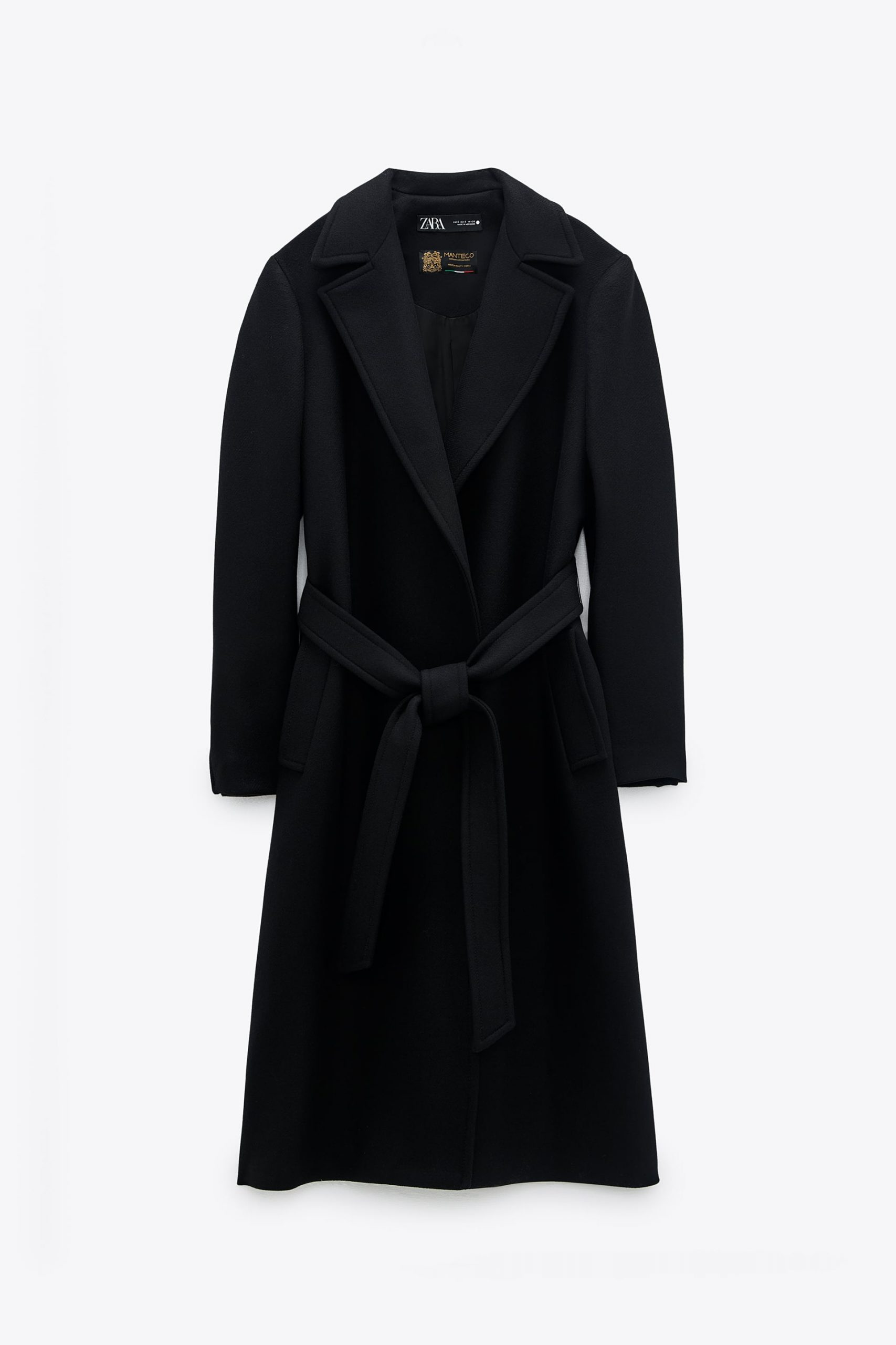 cappotto zara cintura