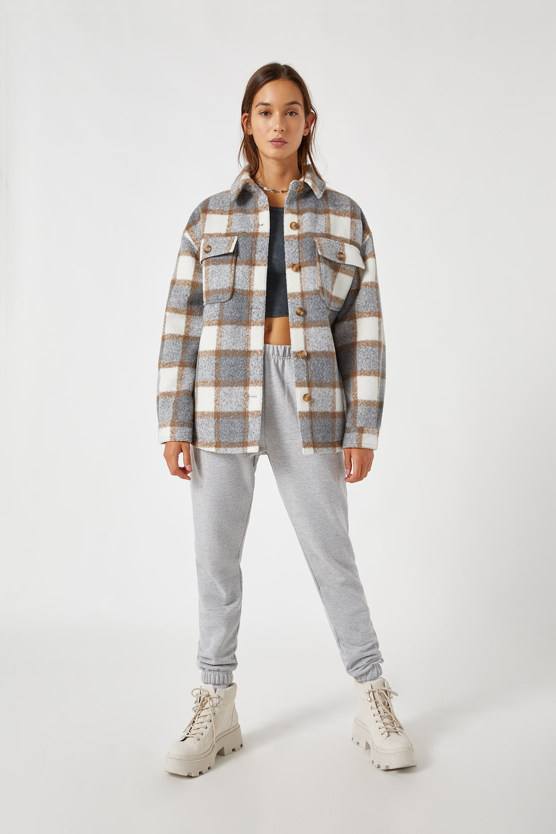 giacca-camicia pull&bear