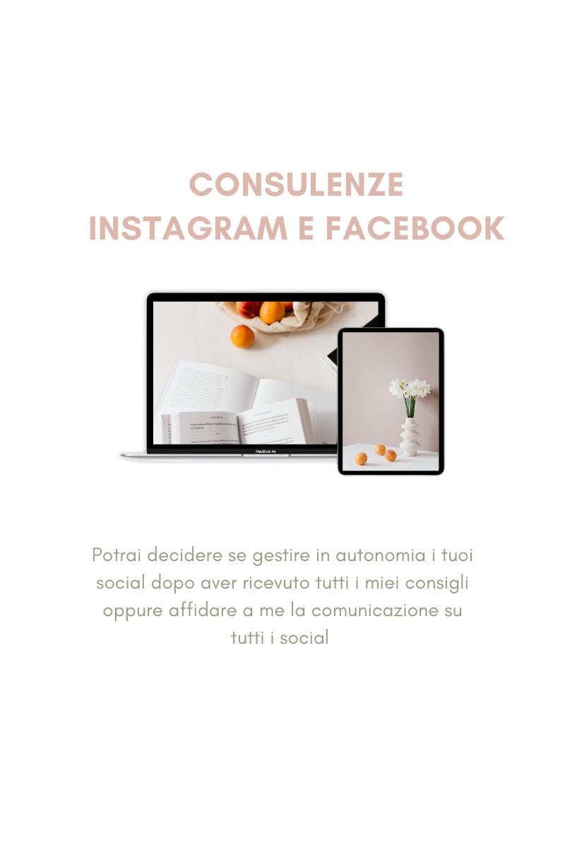 Consulenza canali social - Instagram e Facebook