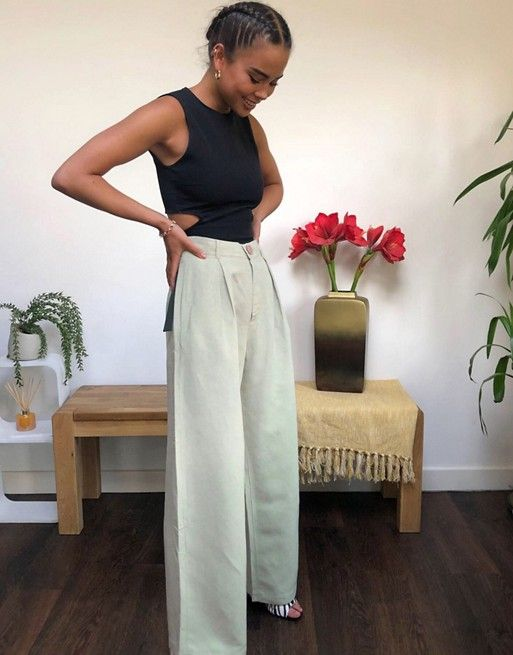 pantaloni in lino outfit